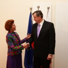 Androulla Vassiliou, evropska komisarka in Dr. Danilo Türk, bivši predsednik Republike Slovenije (foto Mediaspeed)