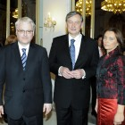 Dr. Ivo Josipović, dr. Danilo Türk in dr. Suzana Žilić Fišer (foto Mediaspeed)